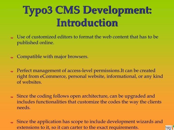 Typo3 cms development introduction