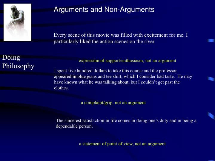Arguments and Non-Arguments