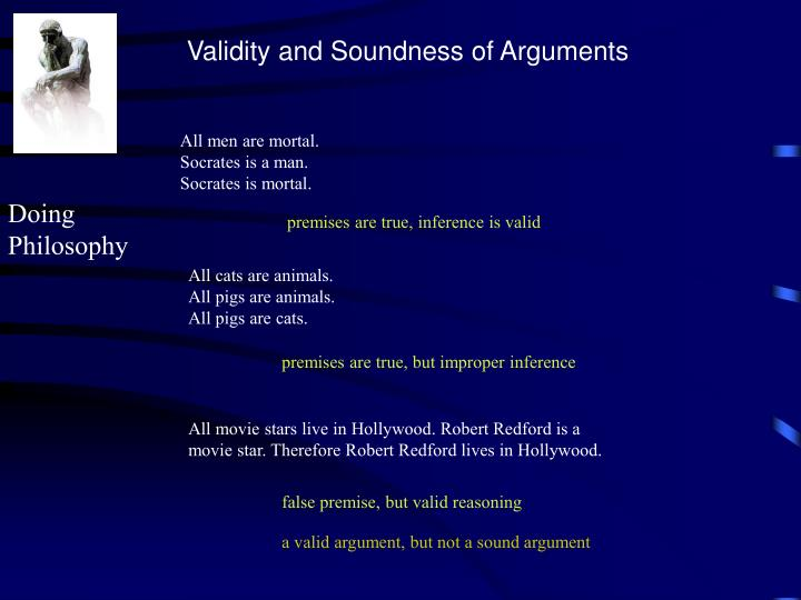 Validity and Soundness of Arguments