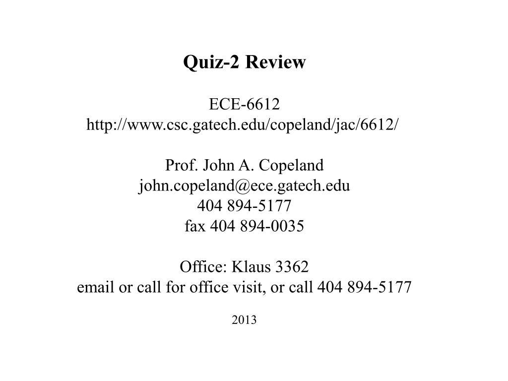 Quiz-2 Review