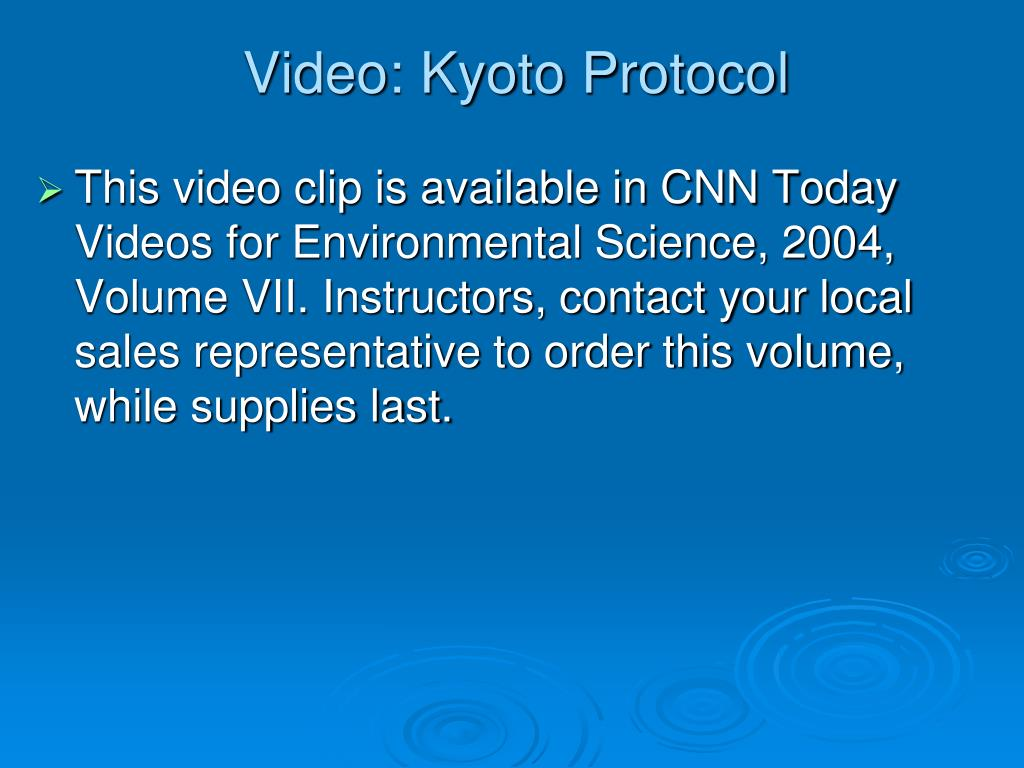 Video: Kyoto Protocol