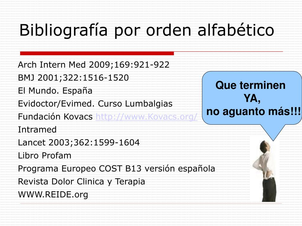 Bibliografía por orden alfabético