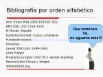 bibliograf a por orden alfab tico