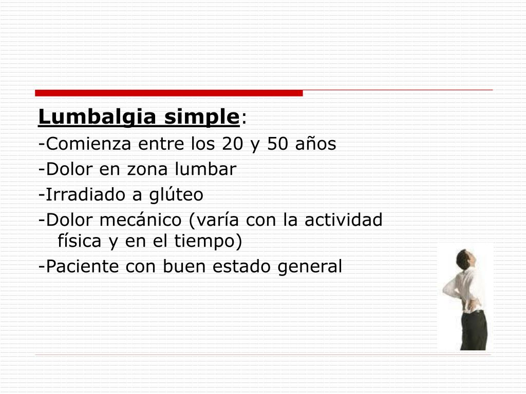 Lumbalgia simple