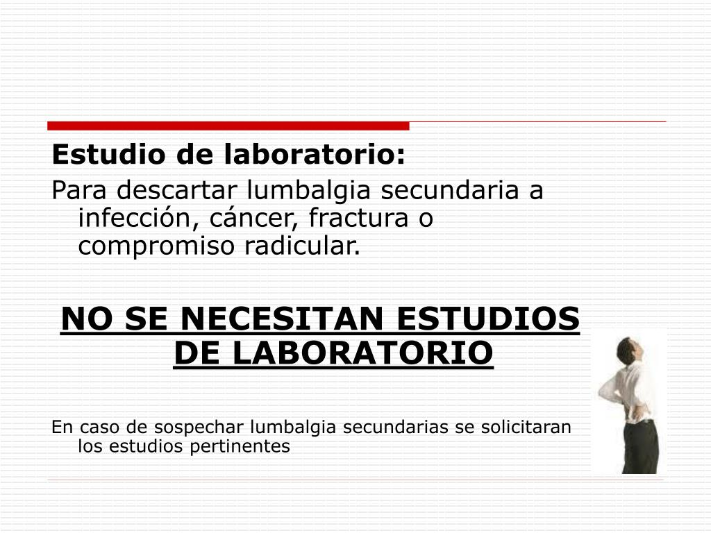 Estudio de laboratorio: