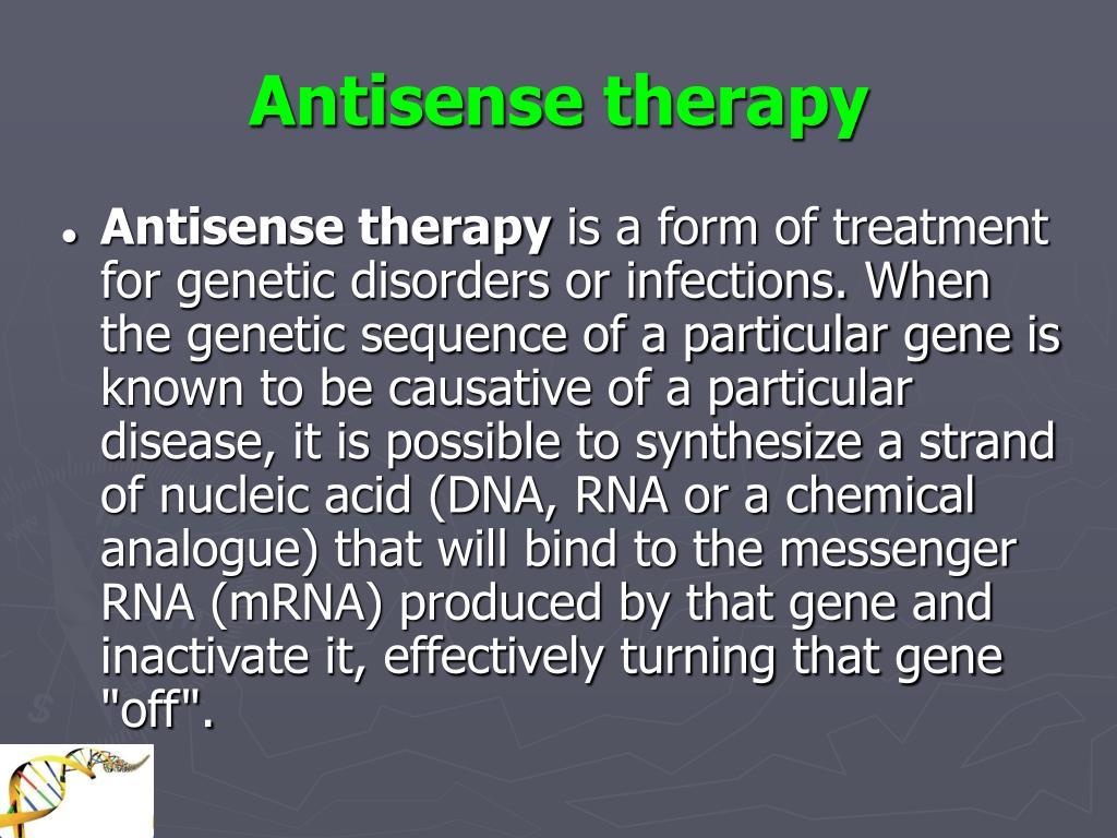 Antisense therapy