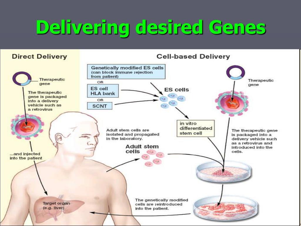 Delivering desired Genes