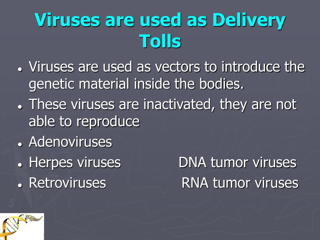 Viruses are used as Delivery Tolls