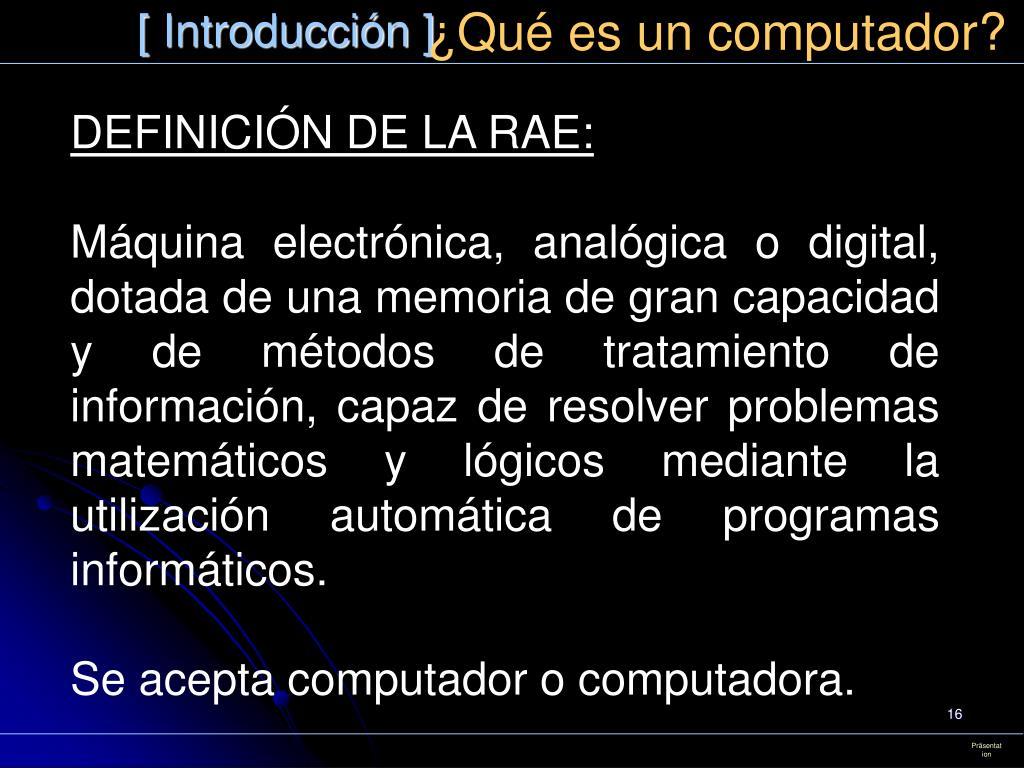 ¿Qué es un computador?