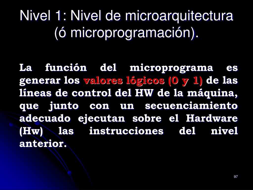 Nivel 1: Nivel de microarquitectura
