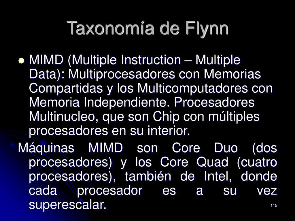 Taxonomía de Flynn