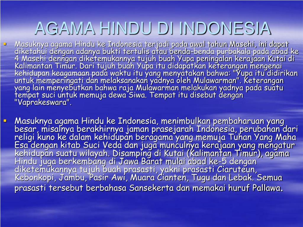 AGAMA HINDU DI INDONESIA