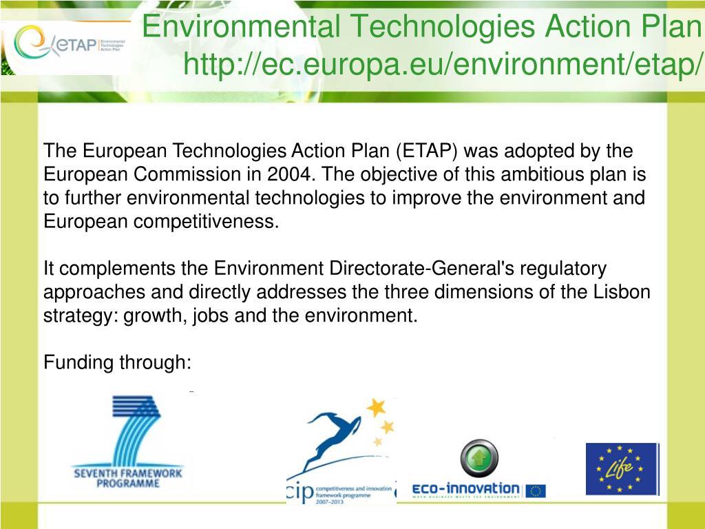 Environmental Technologies Action Plan