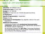 open call fp7 energy 2011 2
