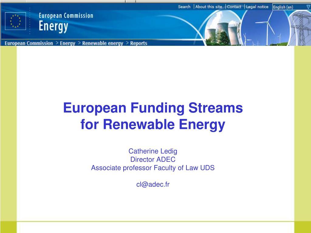 European Funding Streams