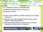 the objective of the intelligent energy europe ii programme iee ii