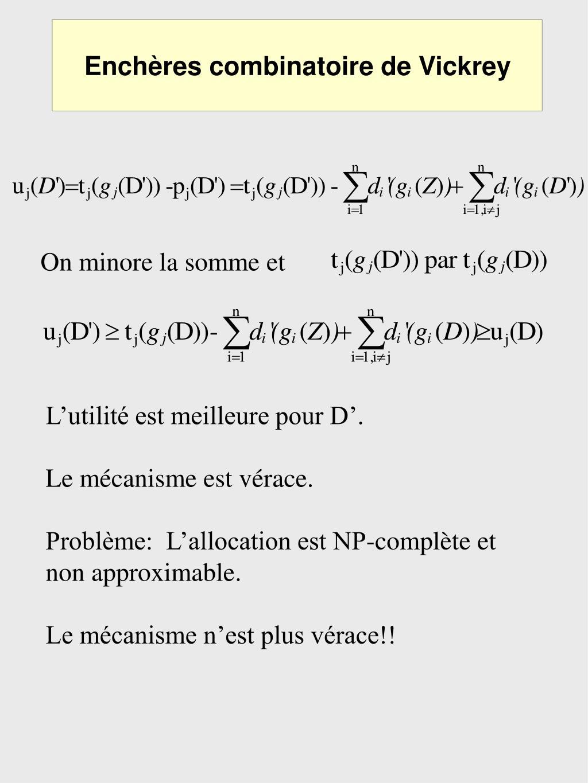 Enchères combinatoire de Vickrey