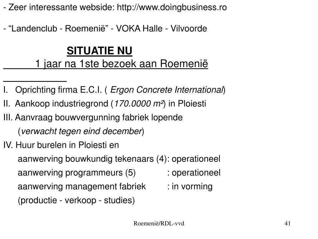 - Zeer interessante webside: http://www.doingbusiness.ro