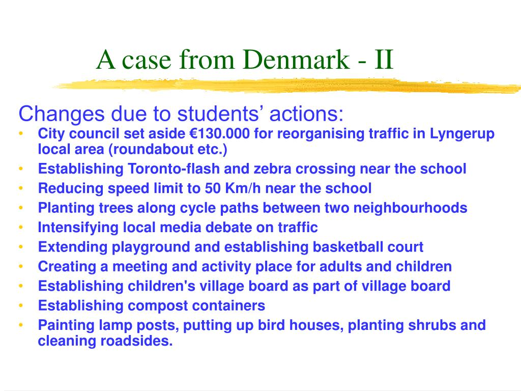 A case from Denmark - II