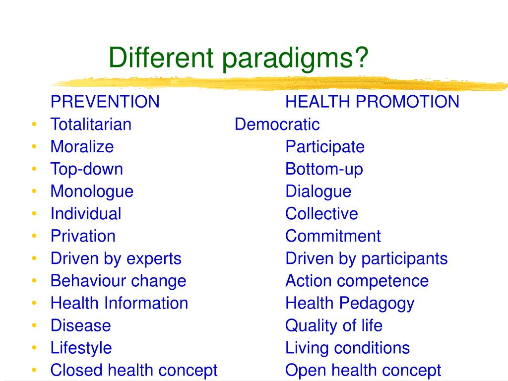Different paradigms?