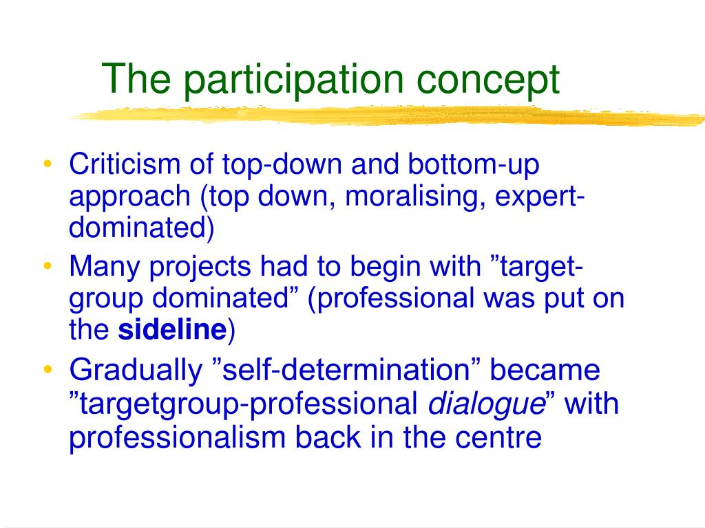 The participation concept
