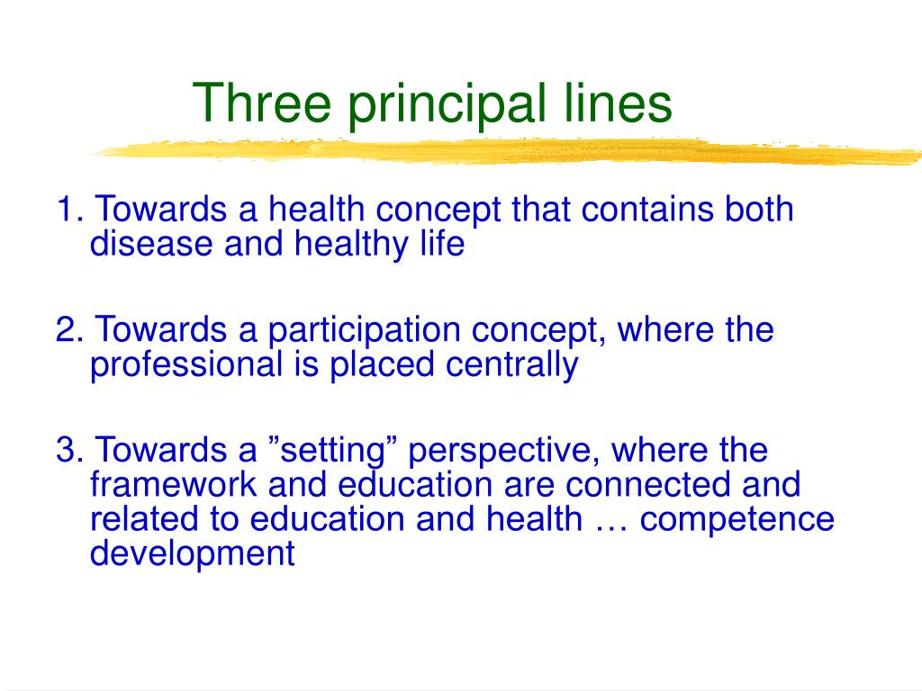 Three principal lines