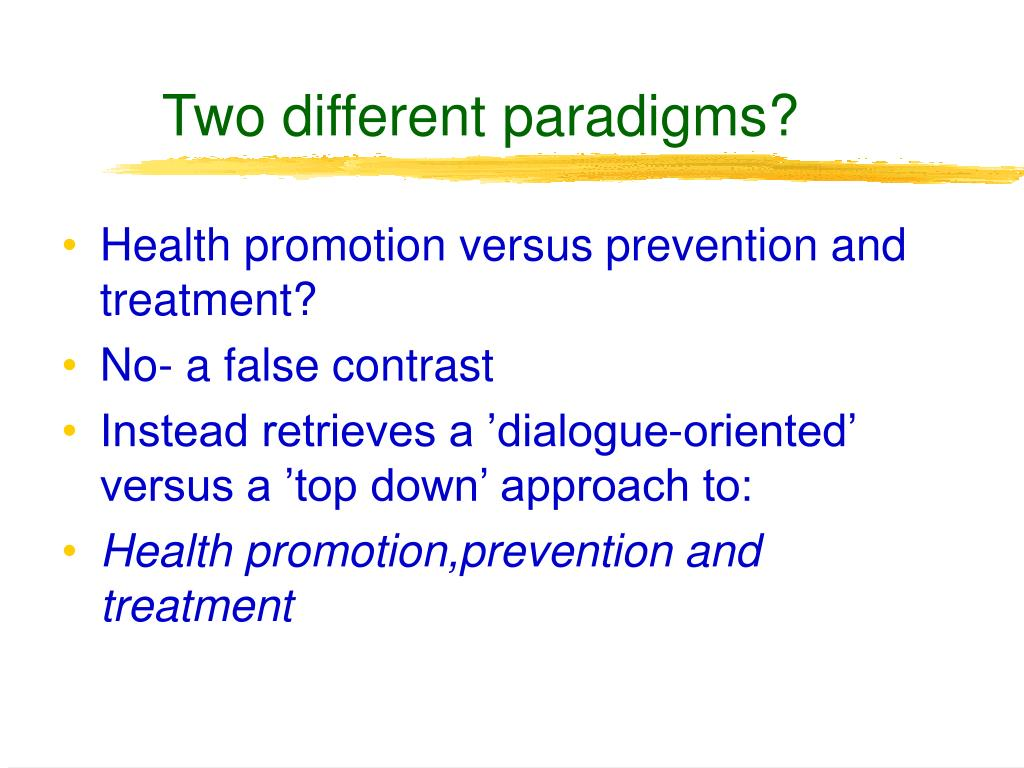 Two different paradigms?