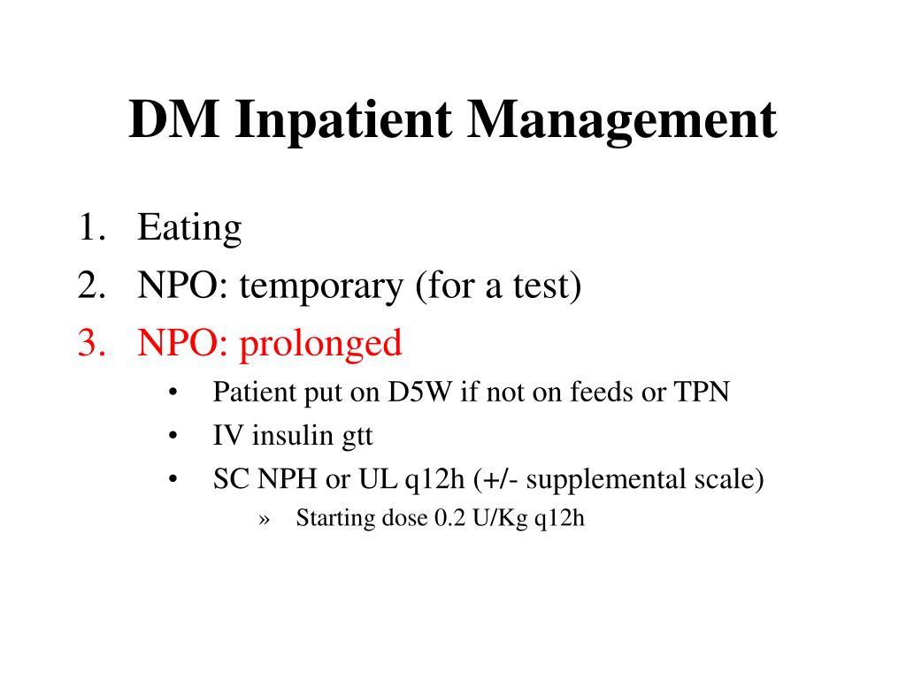 DM Inpatient Management