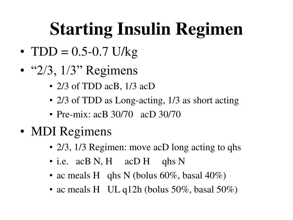 Starting Insulin Regimen