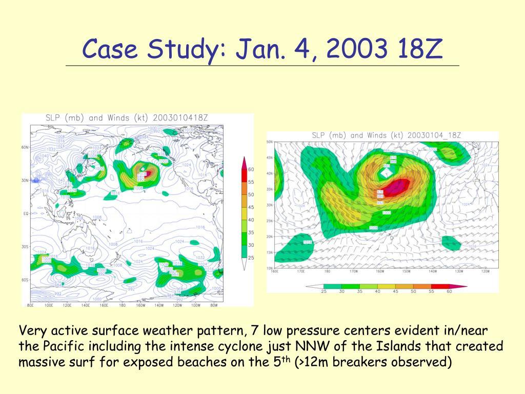Case Study: Jan. 4, 2003 18Z