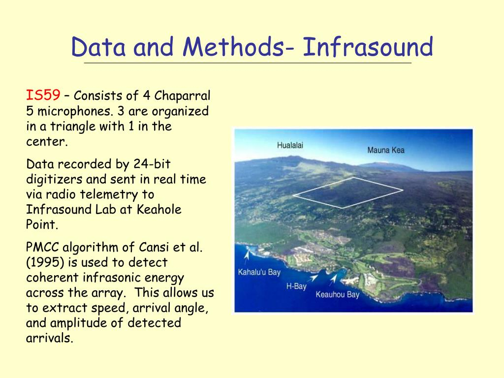 Data and Methods- Infrasound