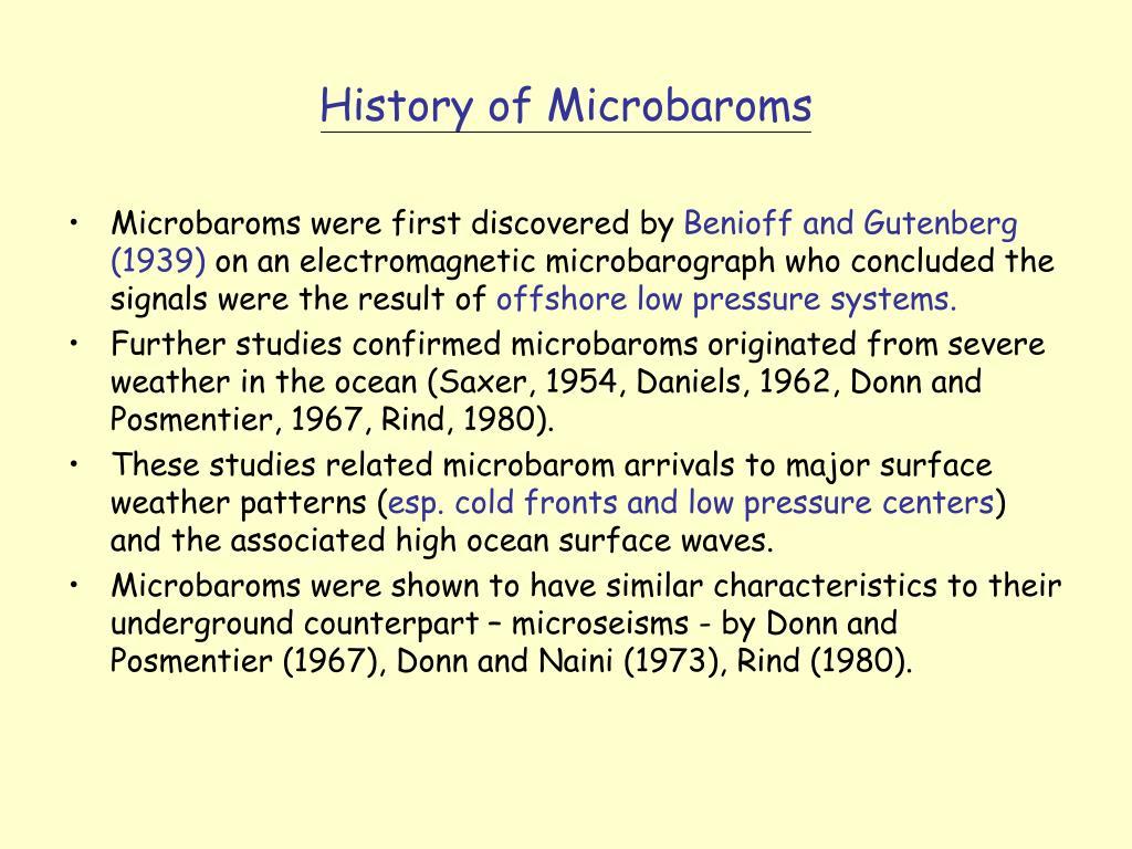 History of Microbaroms