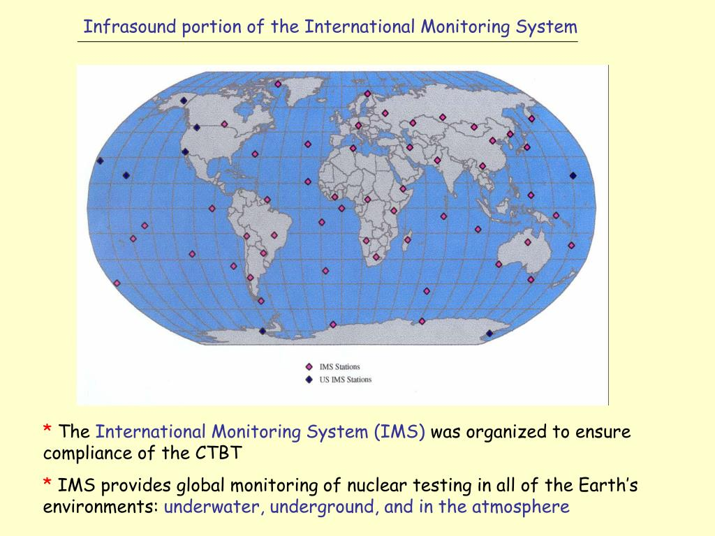 Infrasound portion of the International Monitoring System