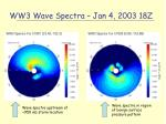 ww3 wave spectra jan 4 2003 18z