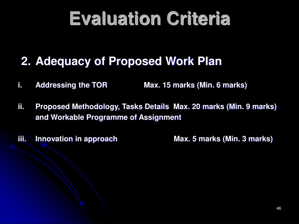 2.Adequacy of Proposed Work Plan