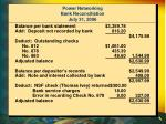 power networking bank reconciliation july 31 2006