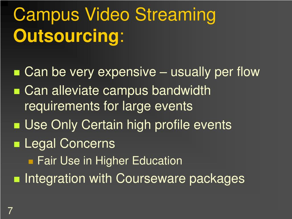 Campus Video Streaming