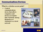 communications devices36