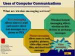 uses of computer communications7