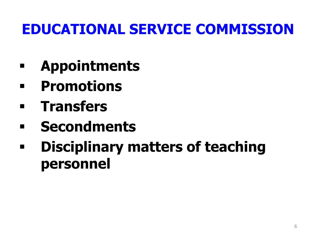 EDUCATIONAL SERVICE