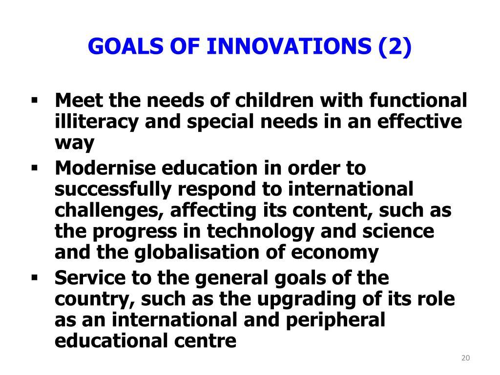 GOALS OF INNOVATIONS (2)