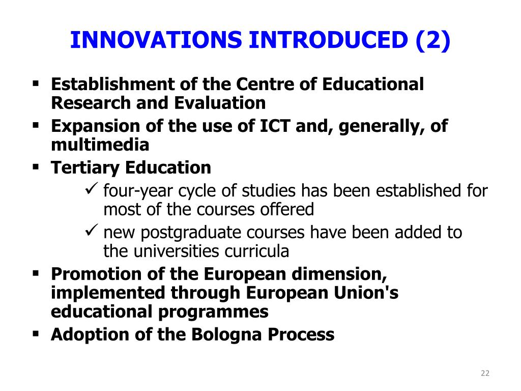 INNOVATIONS INTRODUCED (2)