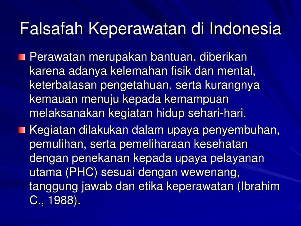 Falsafah Keperawatan di Indonesia
