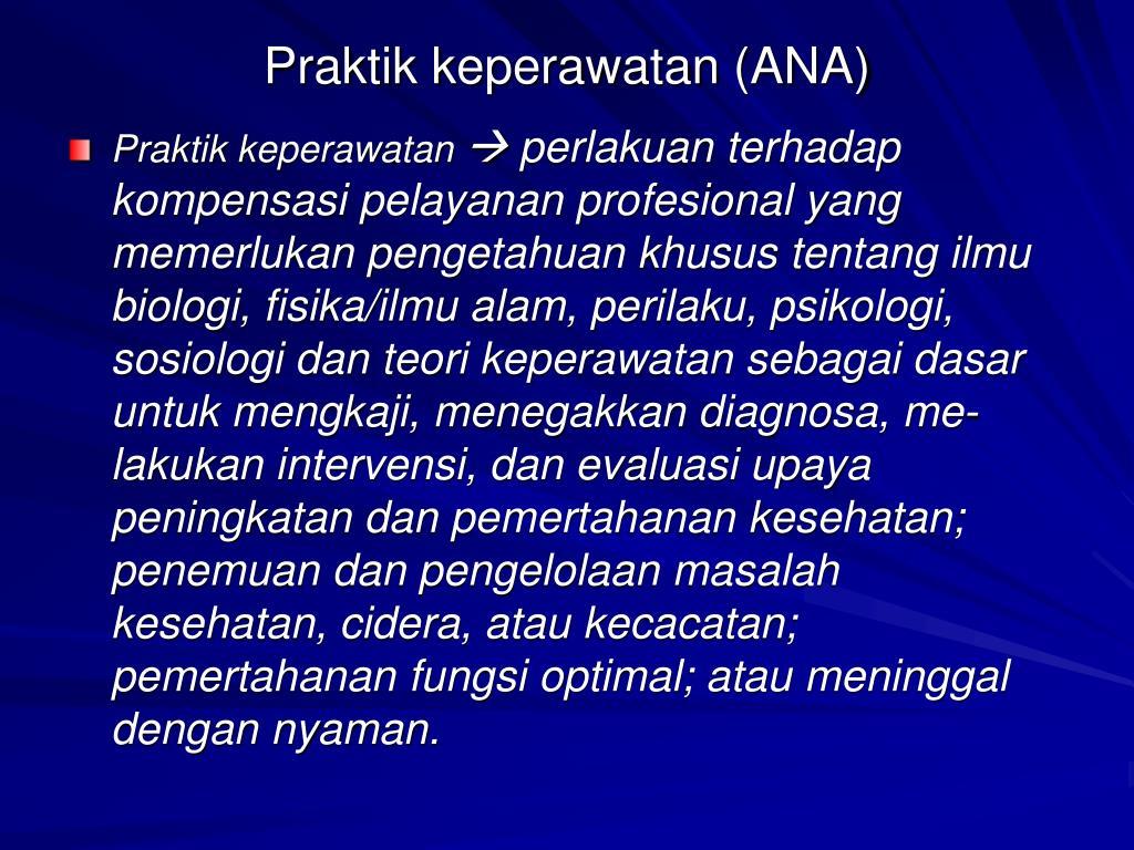 Praktik keperawatan (ANA)
