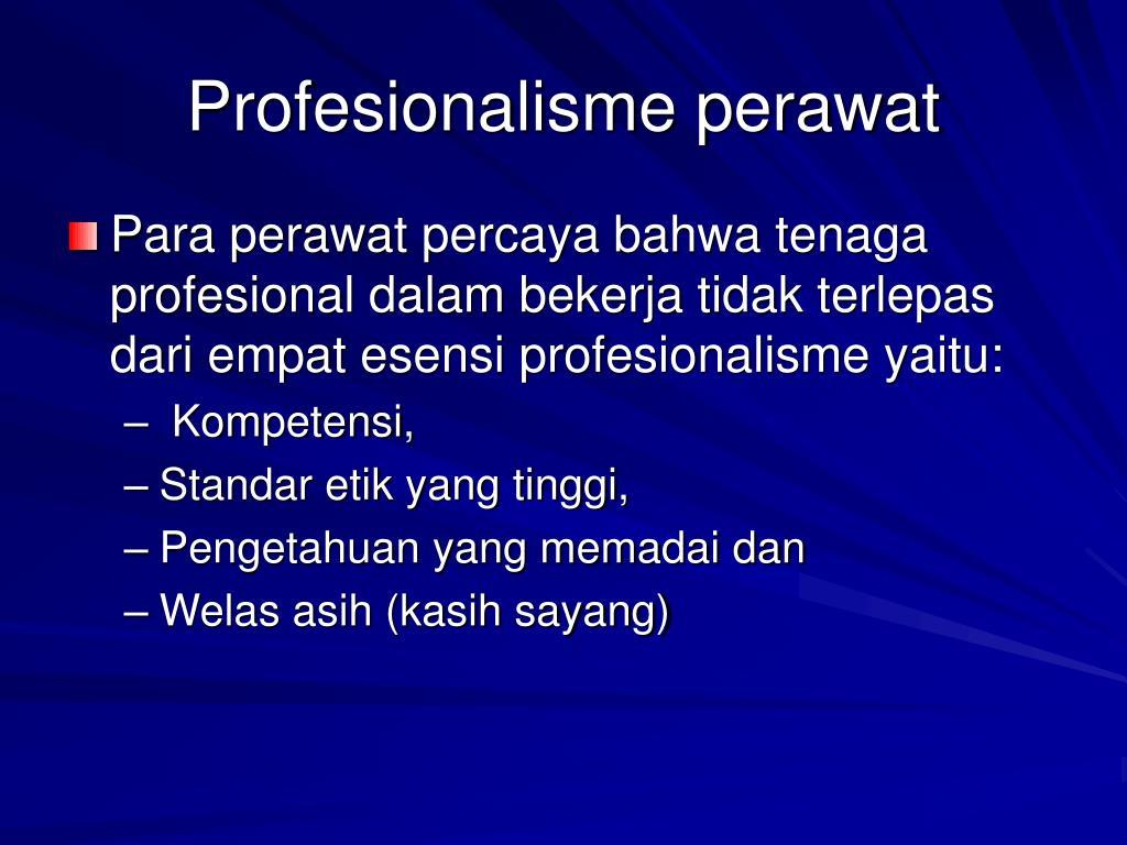 Profesionalisme perawat
