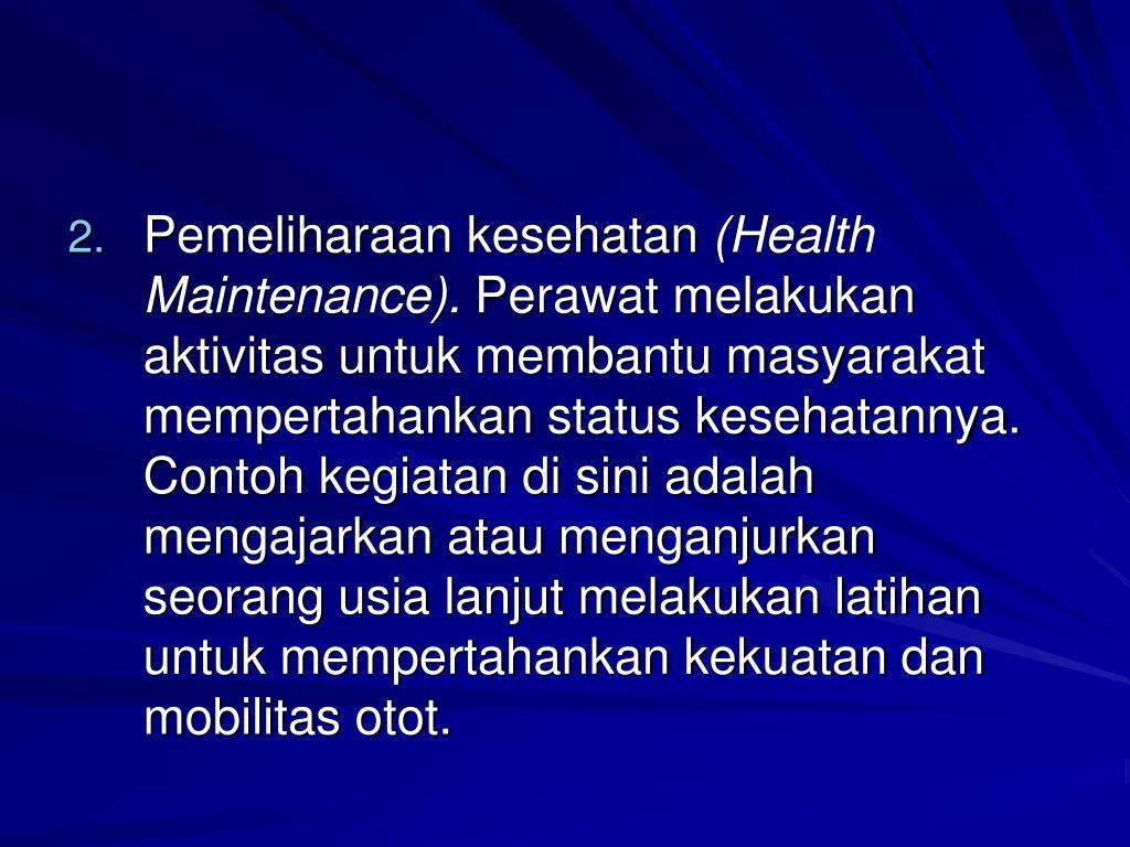 Pemeliharaan kesehatan