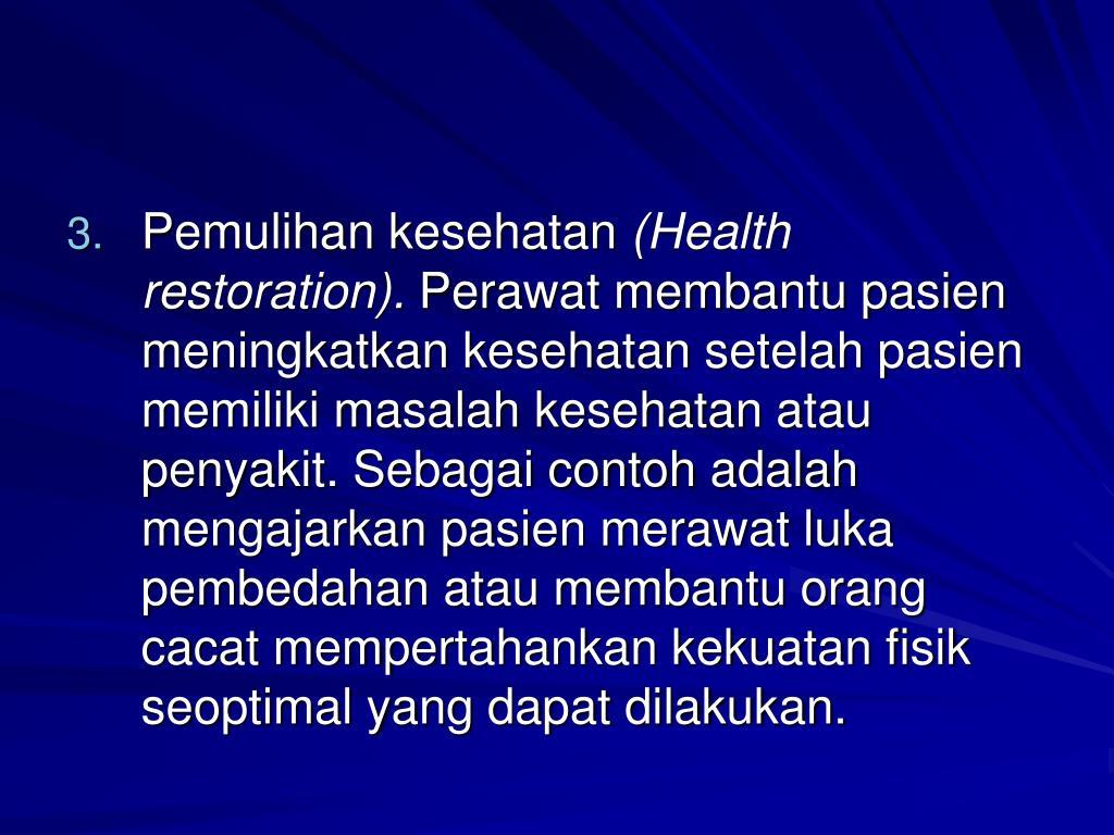 Pemulihan kesehatan