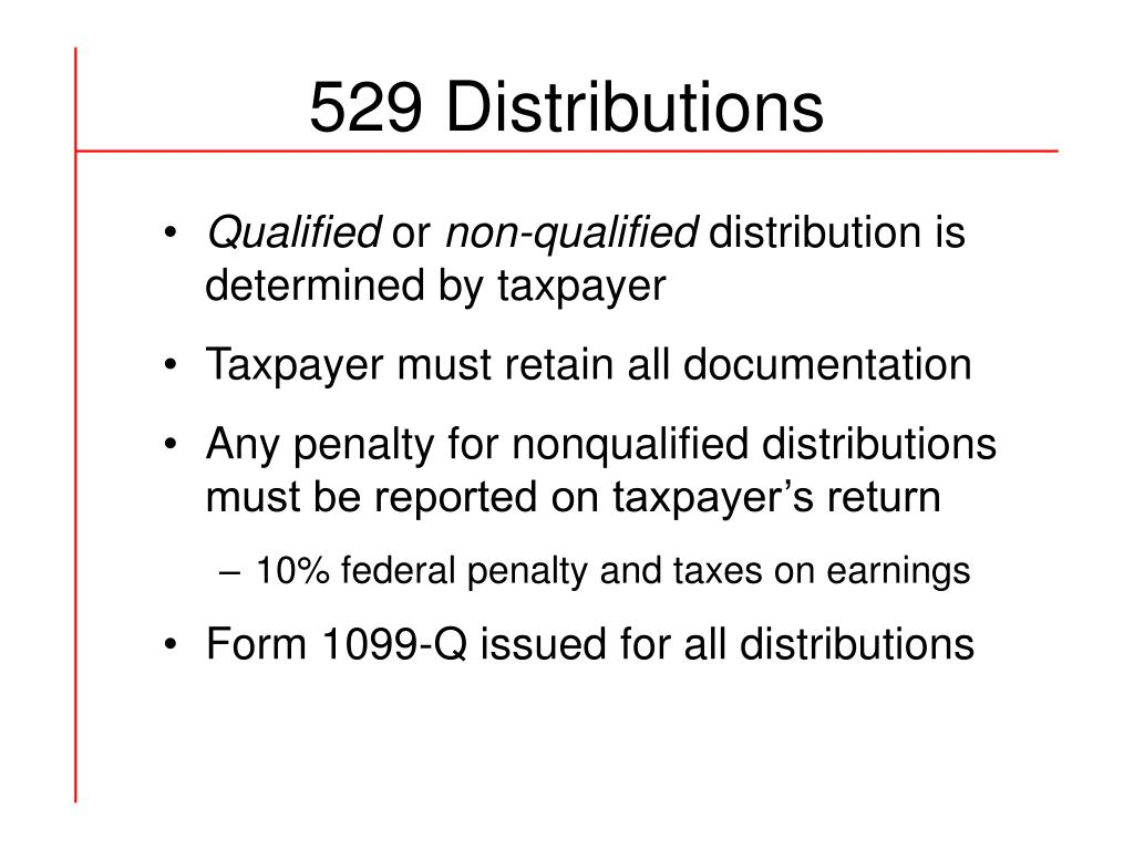 529 Distributions