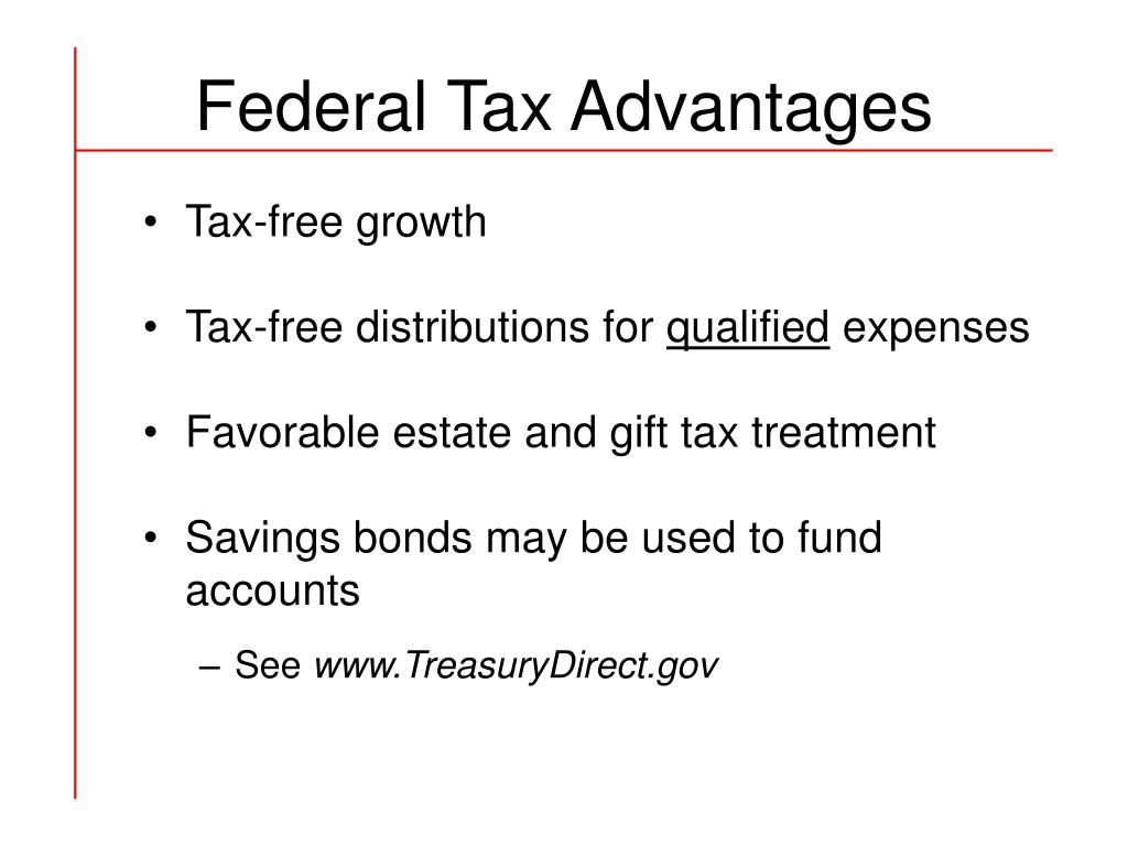 Federal Tax Advantages