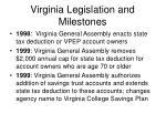 virginia legislation and milestones8
